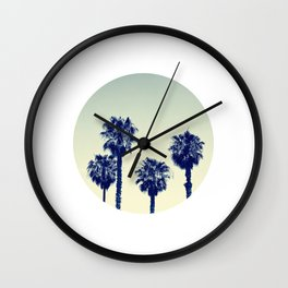 retro palm trees Wall Clock