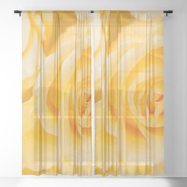 Beautiful Yellow Roses Close-up #decor #society6 #buyart Sheer Curtain
