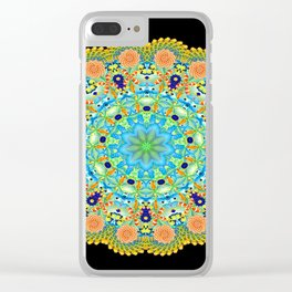 Under The Sea Psychedelic Kaleidoscopic Mandala Clear iPhone Case