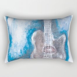 in the pocket (guitar on blues) Rectangular Pillow