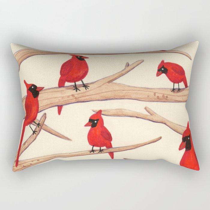 Cardinals Rectangular Pillow