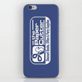 the Paper Cutter Blue iPhone Skin