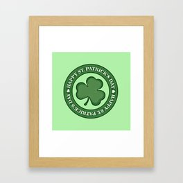 Happy St. Patricks Day Framed Art Print