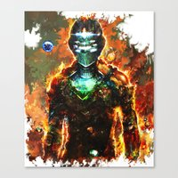 dead space Canvas Prints featuring dead space by ururuty