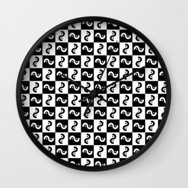 spiral 15- black and white Wall Clock