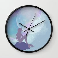 ariel Wall Clocks featuring ariel by Vita♥G
