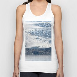 Arctic glacier, rock and icy water Unisex Tank Top