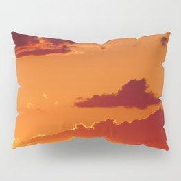 Orange sunset sky Pillow Sham