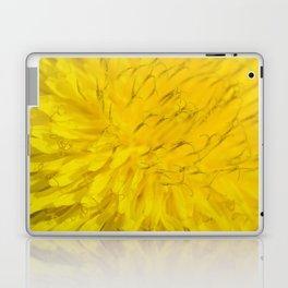 Dandelion flower in extreme close up. Laptop & iPad Skin