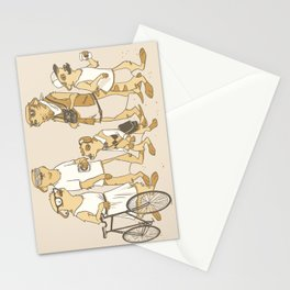 Hipster Meerkats Stationery Cards