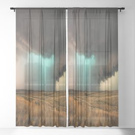 Jewel of the Plains - Storm in Texas Sheer Curtain