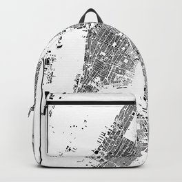 New York Map Schwarzplan Only Buildings Backpack
