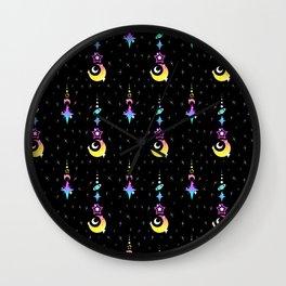 CMYK Moon Drop Wall Clock
