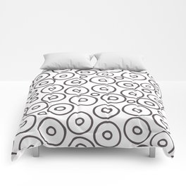 circles 2 - brown and white Comforters