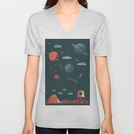 Moon Poster Unisex V-Neck