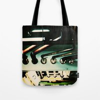 industrial Tote Bags featuring Industrial by Nina Saunders