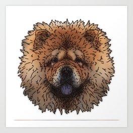 Chow Art Print