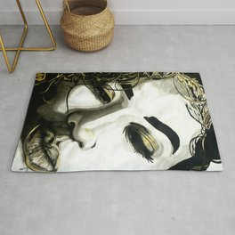 DeMarie [BLACK WHITE AND A LITTLE GOLD COLLECTION] Rug