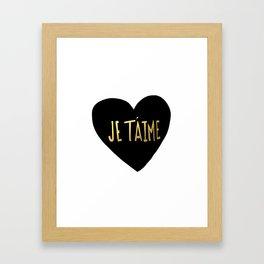je t'aime x heart Framed Art Print
