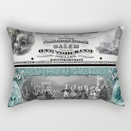 $1,000 Series 1875 National Bank Note - The First National Bank of Salem, Massachusetts Rectangular Pillow