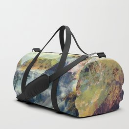 Mountain landscape digital art Duffle Bag