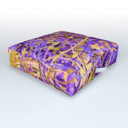 Purple and Gold Celebration Outdoor Floor Cushion