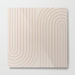 Minimal Line Curvature - Natural Metal Print