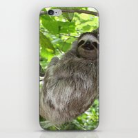 sloths iPhone & iPod Skins featuring Sloths in Nature by Amber Galore Design