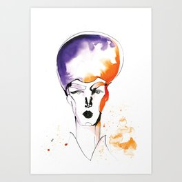 Butch Queen with Fabulous Hair Art Print