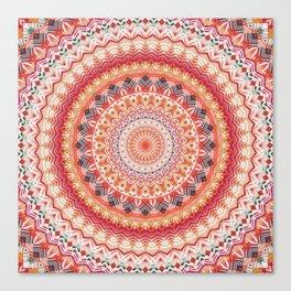 Oriental Sun Mandala Canvas Print