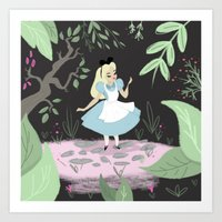alice in wonderland Art Prints featuring Wonderland by gabby ramirez