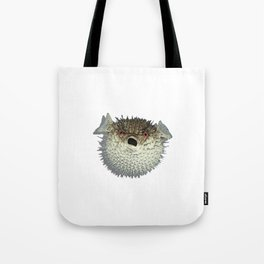 Angry little fish Tote Bag