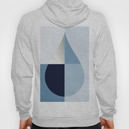 Geometric raindrop - chambray blues Hoody