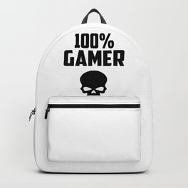 gamer logo and quote Backpack