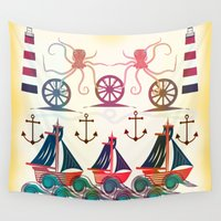 sailor Wall Tapestries featuring Sailor by famenxt