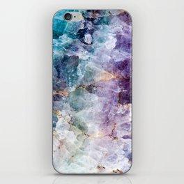 Quartz Stone - Blue and Purple iPhone Skin