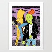 beastie boys Art Prints featuring Bad Boys by Jack Teagle
