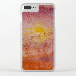 Armadillo at Sunset Clear iPhone Case