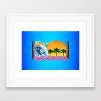 hawaiian Framed Art Prints featuring Hawaiian Surfing by MacDonald Creative Studios