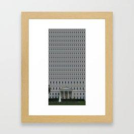 The Trump Whitehouse Renovation Detail Framed Art Print