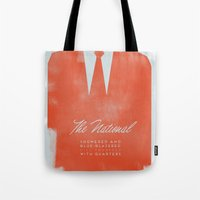 the national Tote Bags featuring The National  by Silent K Design