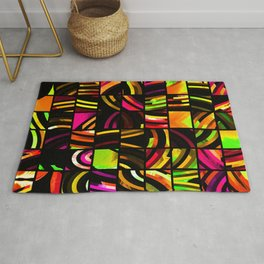 cut-up color rings Rug