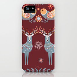 Nordic Winter Red iPhone Case