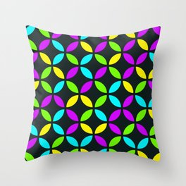Citric colors stylish circles design for home ornament. Throw Pillow
