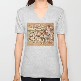 Shells on Sand Unisex V-Neck