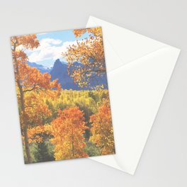Aspen in the Uncompahgre Range, Colorado Stationery Cards