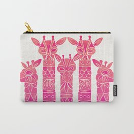 Giraffes – Pink Ombré Carry-All Pouch