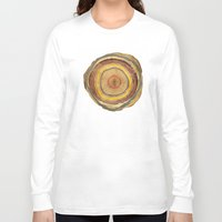 tree rings Long Sleeve T-shirts featuring Tree Rings by Rachael Shankman