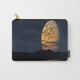 Giant moon with reflection on the river Carry-All Pouch