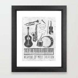 Weapons Of Mass Creation - Music (on paper) Framed Art Print
